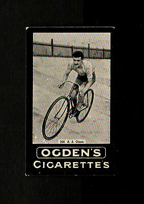 "Ogden 1902 Scarcer Tab ( Cycling ) Type Card """" # 268 A.a. Chase -- F. Series """""