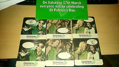 6 x Guinness Beer Mats Personalised for ADAM St Patricks Day Paddy Irish