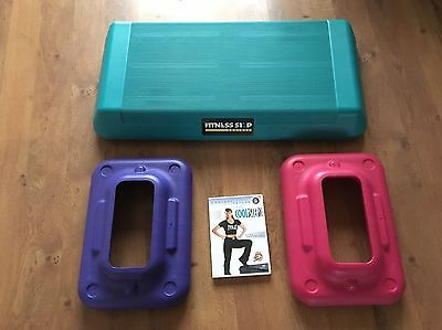 Step Bench Fitness Step Trainer and Totally Cool Step DVD