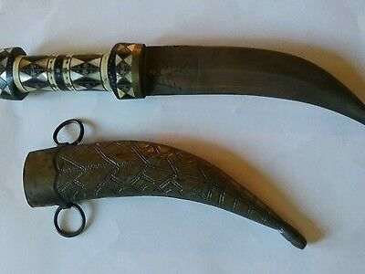 Antique Islamic, middle east, knife, dagger.