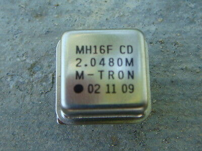 LOT 25 2.048 MHz M-TRON Crystal Oscillators NEW and UNUSED