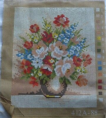 Small Printed Tapestry Canvas * Bowl Of Flowers*