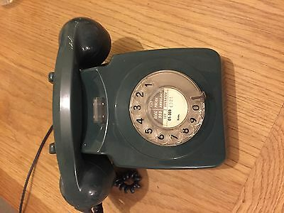 Retro GPO 746 Rotary Dial 1960/70's style telephone Forest Green