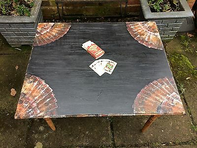 Foldaway Card, Poker, Games Table, Decoupage, Graphite Annie Sloan, Quirky
