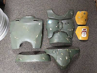 Star Wars prop Boba Fett costume ARMOR set - 10 pieces layered paintup perfect