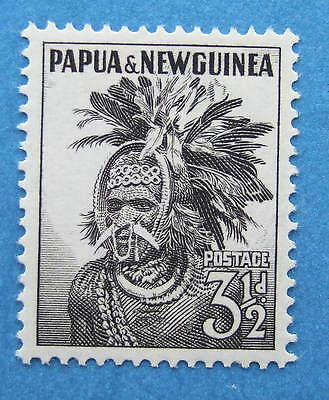 PAPUA & NEW GUINEA 1952 SG6a THREE AND HALF PENCE MNH
