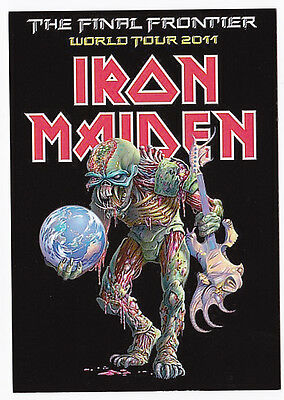 IRON MAIDEN carte postale n° ATHQ 280   THE FINAL FRONTIER   WORLD TOUR 2011