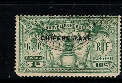 New Hebrides 10c green postage due Stamp - SGFD53 -  used