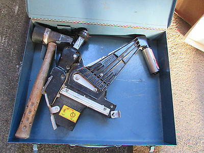 Power Nail Co. Model 45 Floor Powernailer w/ Metal Case & Mallet