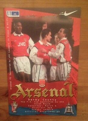 Arsenal v Derby County March 1999 FA Cup 1998-1999