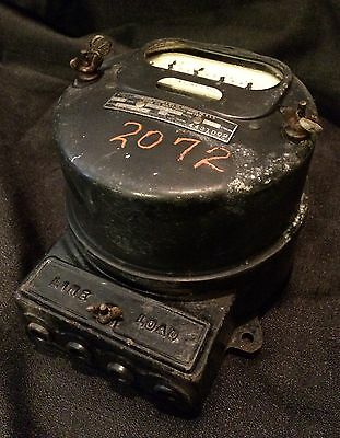Vintage Westinghouse Watthour Meter Single Phase 25 Amp Type Oa 100-200 Volts
