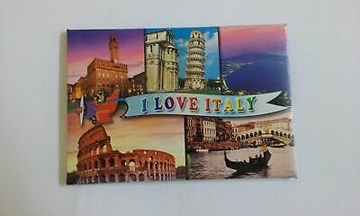 Souvenir of Italy, Fridge Magnet With Images Of Italy