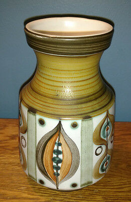 Hand painted Langley / Denby Pottery Vase - Signed