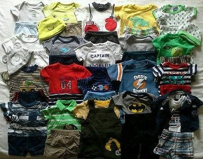 Boys newborn 0/3 3 months Spring Summer Clothing Outfits clothes HUGE 44 PC lot!