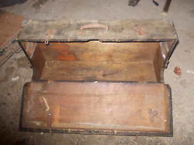 antique wooden toolbox