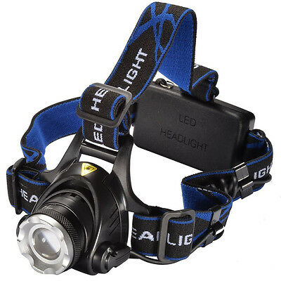 CREE XM-L T6 LED 2000LM Headlamp Head Torch Headlight Camping Hiking Lamps