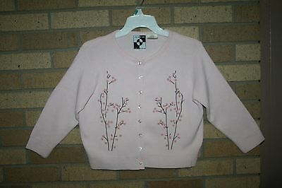 Cardigan Sweater  Embellished Pink It's Our Time Girl's Size L