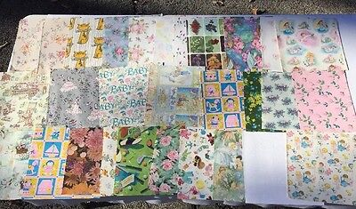 Vintage All Occasion Gift Wrap Paper 25 Full & Partial Sheets!