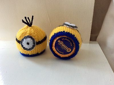 4 x TERRYS CHOCOLATE ORANGE HAND KNITTED  EASTER  MINION  COVERS