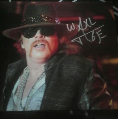 GENUINE hand signed W. Axl Rose 8X6 photo with coa
