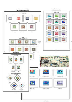Print a Solomon Islands Album Fully Annotated & Completely Colour Illustrated
