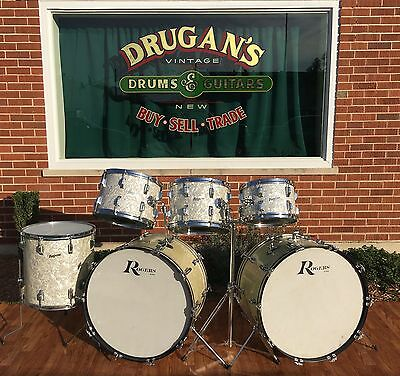 Celebrity Owned John Panozzo of Styx Vintage 1970s Rogers Drum Set WMP W/Cases