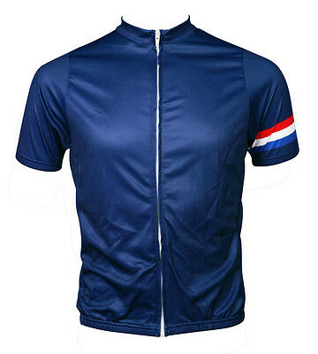 New Men's Racing Bicycle Cycling Polyester Short Sleeve Jersey Sport wear