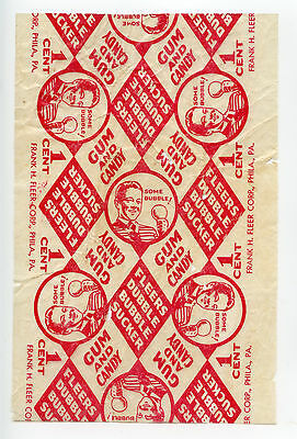 1930's Fleer Dubble Bubble Sucker Gum Lollipop RARE Wax Wrapper Comic Phila PA