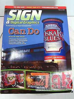 SIGN & DIGITAL GRAPHICS Magazine Lot of 10 2010 Editions Sign Business Reference