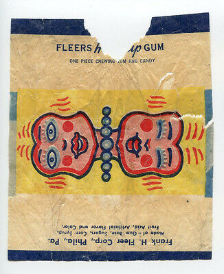 1930's Fleer Heads Up Bubble Gum Wrapper Rare Type Card R180 Dubble 1