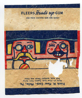 1930's Fleer Heads Up Bubble Gum Wrapper Rare Type Card R180 Dubble 2