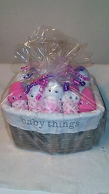 "Diaper Baby GIFT BASKET."""" GIRL""""   ...73 ITEMS...FREE SHIPPING.."