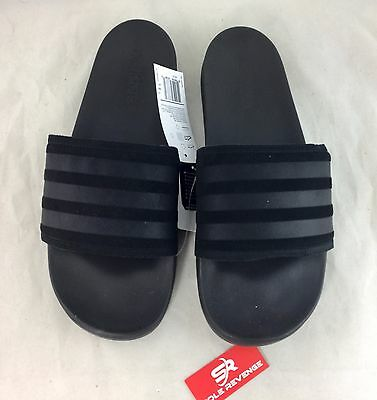 online store 71f92 f1455 Men New Adidas ADILETTE CF Explorer Slides Sandals Black Beach Flip Flops  BB1451
