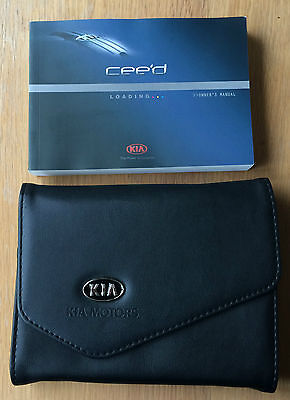 Kia Ceed Genuine Owners Manual Handbook Pack With Wallet 2012-2016 Ref1058