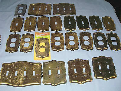 Lot of 23 Amerock Carriage House Antique Brass Outlet & Light Switch Cov Plates