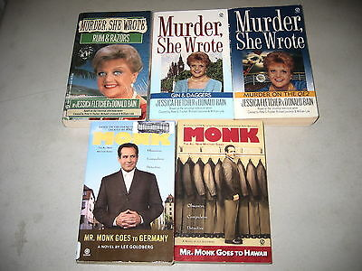 Monk & Murder She Wrote, Everyone's Favorite TV Detectives, Lot of 5