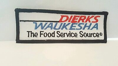 Dierks Waukesha Patch - The Food Service Source / Grocery 4 1/2 x 1 1/2 inches