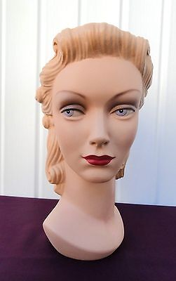 Decoeyes Mannequin Head/Bust Vintage 1940's Style Store Hat Display Daisy