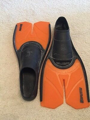 TYR Closed Heel Split Fins - Swimming Training Fins 3/4