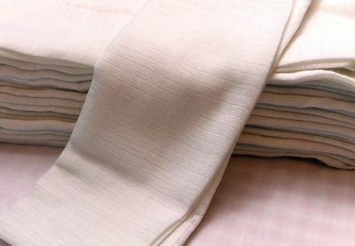 White Muslin Squares Baby Muslins Cloths Nappy Inserts 100% Cotton Bibs