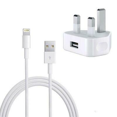 Mains Wall i phone Charger Plug + Cable. for Apple iPhone 5,5S, 6 6Plus,7, 7 +