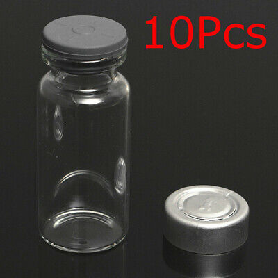 [NEW] 10Set 10ml Vials Bottles with Stopper Caps for 20MM Hand Crimper Sealing M