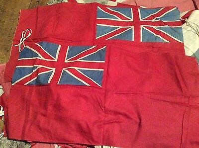 2 vintage red ensign flags