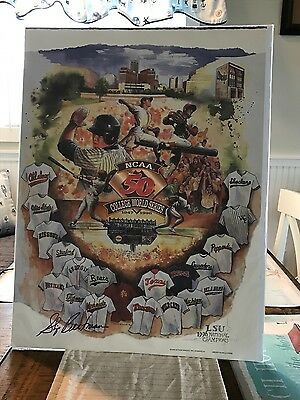 Skip Bertman Autographed 1996 College World Series Official Poster