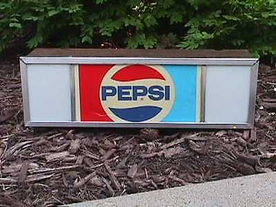 Vintage  P E P S I  Lighted Advertising SIGN   Works !  *FREE  U.S.A.  SHIPPING*