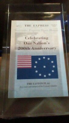 Vtg The Express Newspaper paperweight celebrating our nation's 200th anniversary