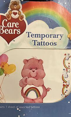 Care Bears Temporary Tattoos Lot of 5 Cheer Bear! NIP! Vintage New In Package