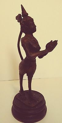 Rare Vintage Mythical Kinnaree Kinnaris Lady Meiji Asian Bronze Sculpture Figure