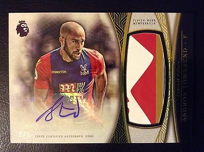 2016 Topps Premier Gold Andros Townsend Sponsor Autograph Jumbo Patch/5