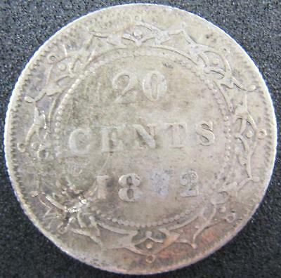 G7043 - 1872 - Canada - Nfld - 20 Cent Silver Coin - Ungraded - Nr